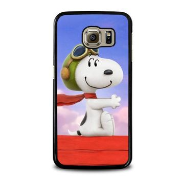 snoopy dog samsung galaxy s6 case cover  number 1