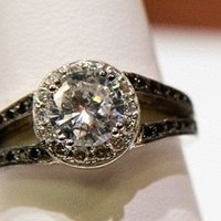 adorn + cherish Black Diamond Engagement Ring by adorncherish on Sense of Fashion