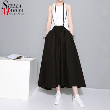 Pleated Skirt With Suspenders
