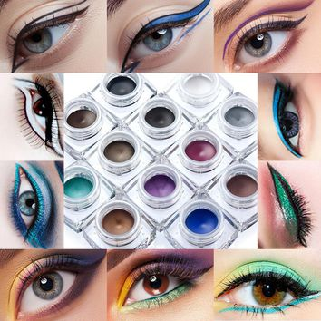 Huamianli 12 Colors Matte Eye Liner