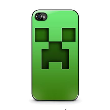 creeper minecraft iphone 4 4s case cover  number 1