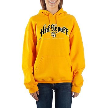 Harry Potter Hufflepuff Graphic Hoodie Fan Apparel