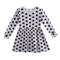 baby girl autumn dress children black cat long sleeve clothes kids casual cotton dot clothing autumn princess girls dresses