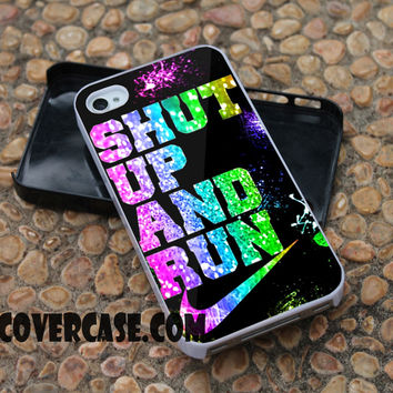 shut up and run case for iPhone 4/4S/5/5S/5C/6/6+ case,samsung S3/S4/S5 case,samsung note 3/4 Case