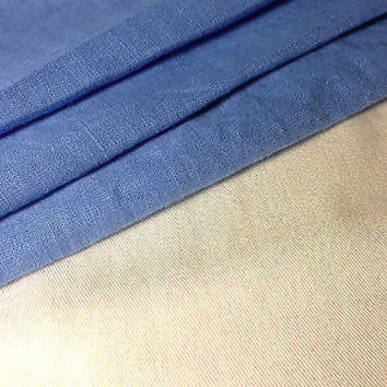 """60"""" Solid Baby Blue Linen & Rayon Blend Woven Fabric By the Yard"""