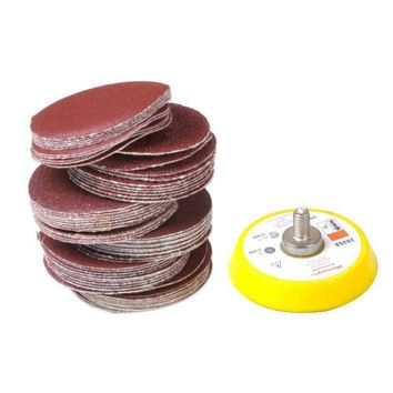 "Hotsale 60Pcs Mix Grit Sander Disc Sanding Polishing Pad Backer Plate 2""- M6X1 Thread"
