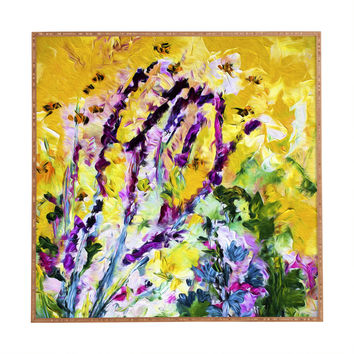 Ginette Fine Art Lavender and Bees Provence Framed Wall Art