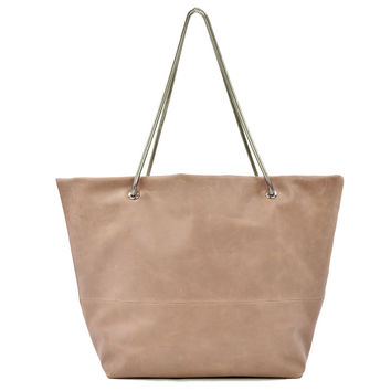 Magdalena East West Tote Mauve w/ Silver