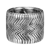 Wave Texture Stretch Cuff Bracelet