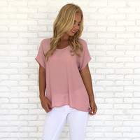 Lovely Little Basic Top in Blush