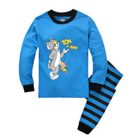 Children Home Cartoons Cotton Long Sleeve Sleepwear [6324918340]