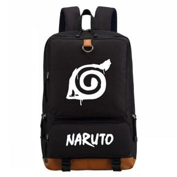Student Backpack Children WISHOT Naruto write round eyes backpack fashion casual backpack teenagers Men women's Student School Bags travel Laptop Bag AT_49_3