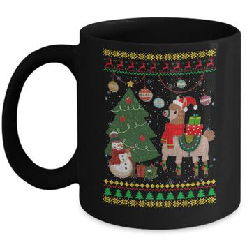 Funny Llama Christmas Cute Family Ugly Sweater Mug