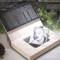 Hollow Book and Marilyn Monroe Hip Flask - Marilyn Monroe