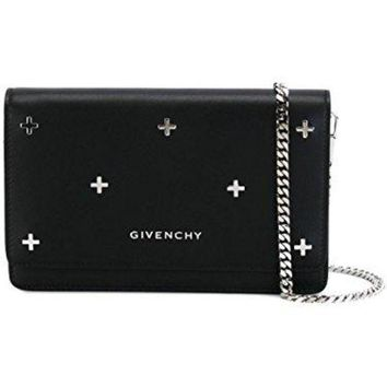 Givenchy Women's Bc06250683001 Black Leather Shoulder Bag - Beauty Ticks