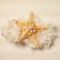 Starfish Hair Clip by byElizabethSwan on Etsy