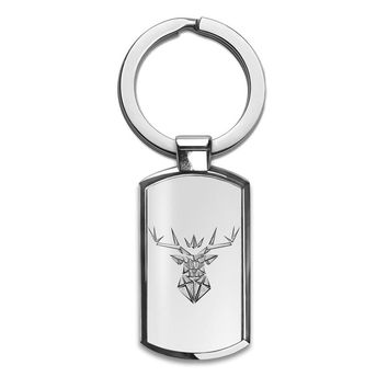 The Crowned Stag Premium Stainless Steel Key Ring| Enjoy A Unique  & Personalized Key Hanger To Carry Your Keys W/ Style| Custom Quality Prints| Household Souvenirs By Styleart