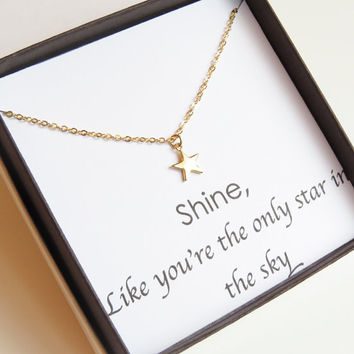 Star Necklace | Gold Star Necklace | TIny Star Necklace | Layering Necklace | Star Charm Necklace | You're a star Necklace