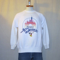 Vintage 1985 MICKEY MOUSE DISNEY Cartoon Anniversary Graphic Small Medium 50/50 Soft Rare Crewneck Sweatshirt