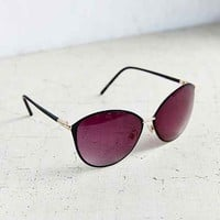 Painted Metal Cat Eye Sunglasses-