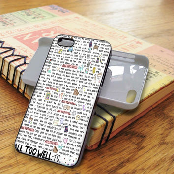 Taylor Swift All Too Well Singer Music 1989 iPhone 5C Case