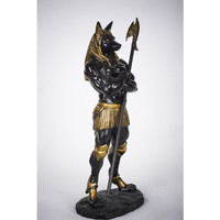 Muscular Dark Anubis Statue Egyptian Deity of Afterlife and Mummification