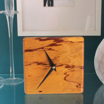 Exotic Desk Clock made with South American Marble Wood | Table Clock | Wood Clock | Minimalist Clock