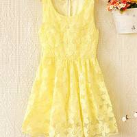 Spring and summer organza vest dress
