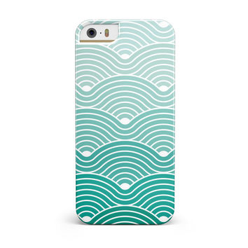Beach Hotel Wallpaper Waves iPhone 5/5S/SE INK-Fuzed Case