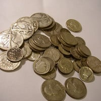 One Dollar Face Value of pre 1965 silver coins---FREE SHIPPING !