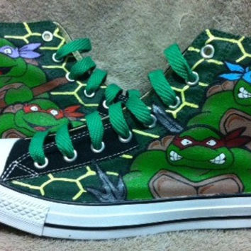 Teenage Mutant Ninja Turtles custom Converse all stars