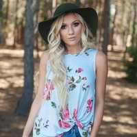 The Quincy Floral Knot Top