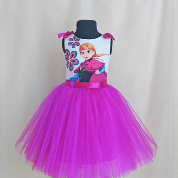 Exellent Soft Frozen Dress, Anna Birthday Dress, Frozen Birthday Outfit, Disney Dress