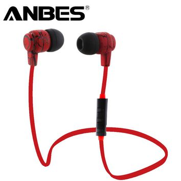 Anbes Sports Running Headphones Bluetooth Earphones Wireless Stereo Headsets with Microphones earbuds for iPhone Xiaomi Samsung
