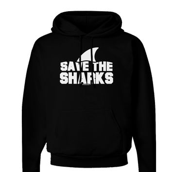 Save The Sharks - Fin Dark Hoodie Sweatshirt
