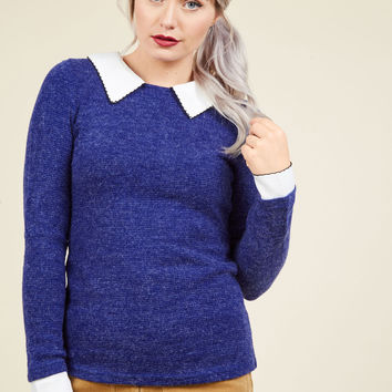 Wine Appreciation Sweater in Royal | Mod Retro Vintage Sweaters | ModCloth.com