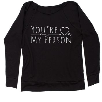 You're My Person Slouchy Off Shoulder Oversized Sweatshirt