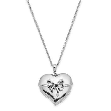 Sterling Silver Antiqued Tie The Knot Bridal Party 18in. Necklace