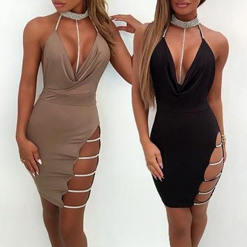 Women Summer Solid Sexy Pencil Dresses Off Shoulder Slim Dresses Ladies Fashion Sleeveless Mini Dress Women Clothes