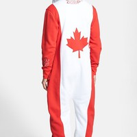 Men's ZOOOP iT UP Canada Flag Zip Hoodie Jumpsuit