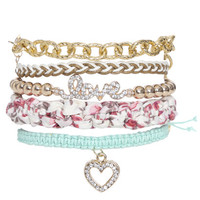 Floral Braided Friendship Bracelet | Shop Jewelry at Wet Seal