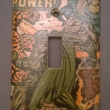 Fantastic Four Comic Book light switch cover