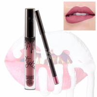 1set Gloss Lipstick  Cosmetics Lip Kit Lipliner Lipgloss