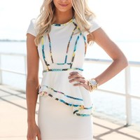 SABO SKIRT  Piped Peplum Dress - $62.00