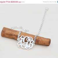 ON SALE Hello February Monogram Bracelet -Initials Bracelet -Monogram Initials Braclet  -Valentines Gift -Bridelsmaid Gilfs - SHIPS in 1-2 W