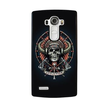 affliction indian skull lg g4 case cover  number 1
