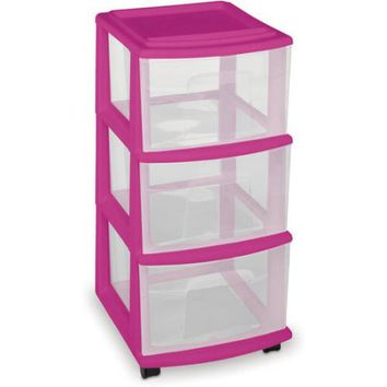 Homz 3-Drawer Medium Cart, Set of 2, Multiple Colors - Walmart.com