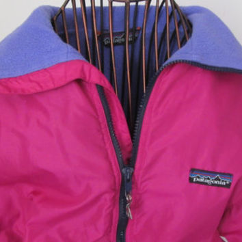 90s Retro Pink Patagonia Jacket Winter Jacket Ski or Snowboarding Jacket Vintage Patagonia Women Pink Jacket Purple Fleece Lined