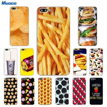 DIY For Apple iPhone 7 / 8 Plus X Phone Case For iPhone 5C 5S SE 10 Shell Soft TPU For iPhone 6 6S Plus Cover Fast food Printing