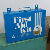 Acme First Aid Kit Empty Metal Case . Acme Cotton Products . Vintage Wall Mount Medical Box